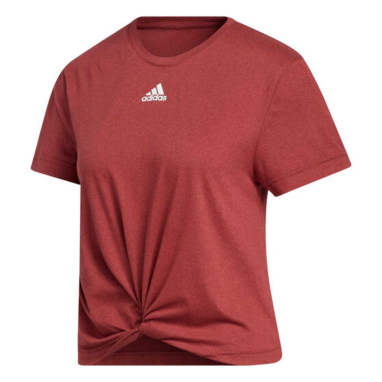 adidas Womens Key Item Knit Tee, Red, rebel_hi-res