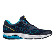 Mizuno Wave Rider 22 Mens Running Shoes Blue / Yellow US 8, Blue / Yellow, rebel_hi-res