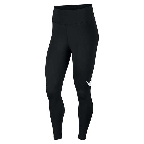 Nike Womens Mid-Rise 7/8 Running Tights, Black, rebel_hi-res