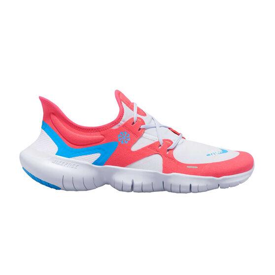 Nike Free RN 5.0 Mens Running Shoes, Red / Blue, rebel_hi-res