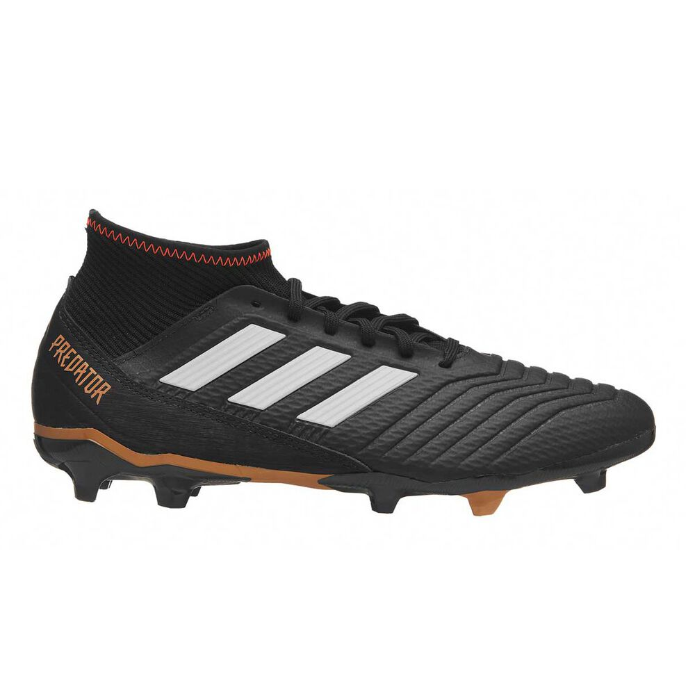 62f633bdd08 adidas Predator 18.3 Mens Football Boots Black   White US 7 Adult ...