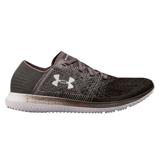 Under Armour Threadborne Blur Mens Running Shoes, Grey / Black, rebel_hi-res