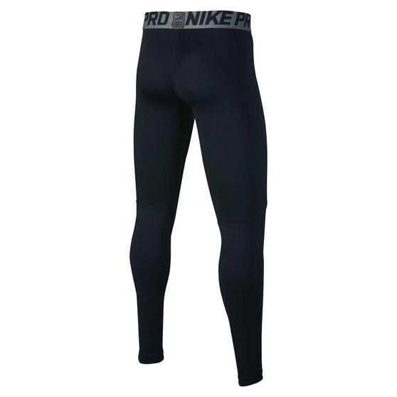 Nike Boys Pro Tights, Black / Grey, rebel_hi-res