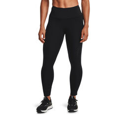 Under Armour Womens UA Rush Ankle Tights, Black, rebel_hi-res