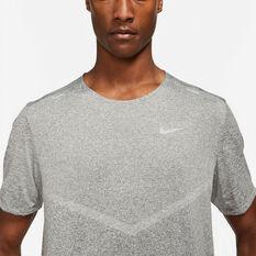 Nike Mens Dri-Fit Rise 365 Tee Grey S, Grey, rebel_hi-res