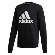 adidas Mens Must Haves Badge of Sport Fleece Sweatshirt Black S, Black, rebel_hi-res