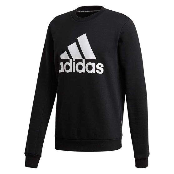 adidas Mens Must Haves Badge of Sport Fleece Sweatshirt, Black, rebel_hi-res