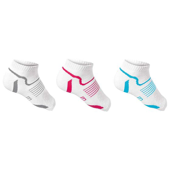 Asana Womens Low Cut 3 Pack Socks White OSFA, , rebel_hi-res