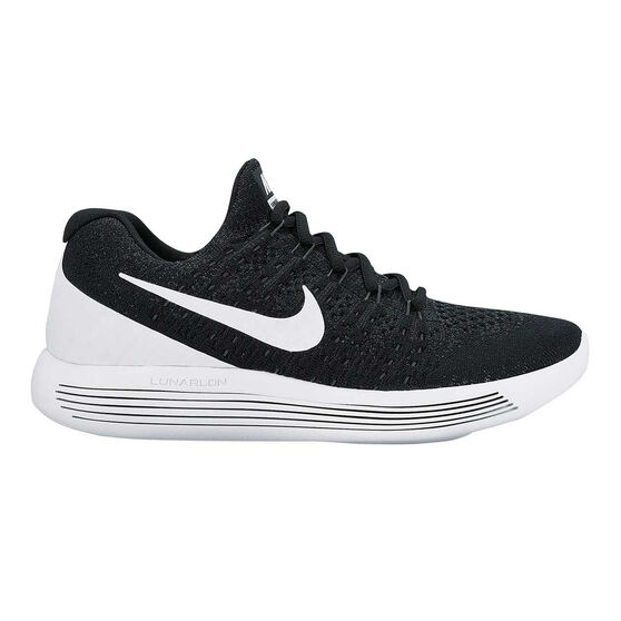 bc87086c80fa6 Nike LunarEpic Low Flyknit 2 Mens Running Shoes Black   White US 10.5