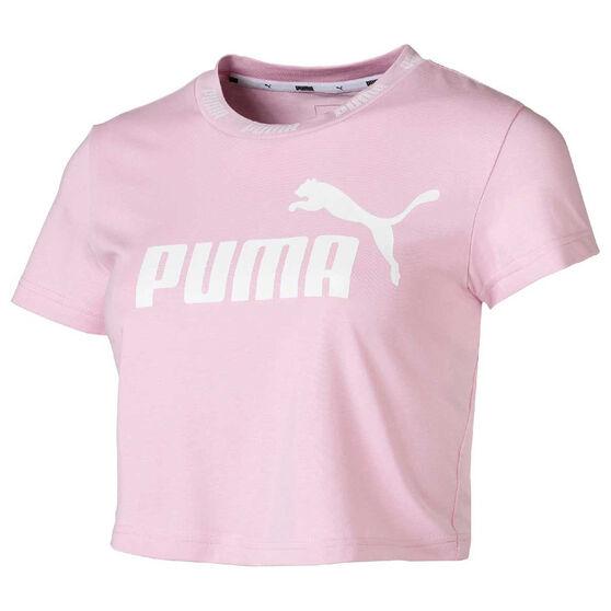 373176ca2bc Puma Womens Amplified Cropped Tee, Pink, rebel_hi-res