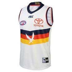 Adelaide Crows 2020 Mens Away Guernsey White XL, White, rebel_hi-res