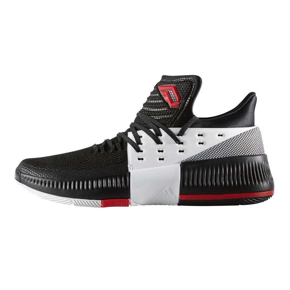 innovative design ccadc 27360 adidas Dame 3 On Tour Mens Basketball Shoes Black   Red US 11.5, Black