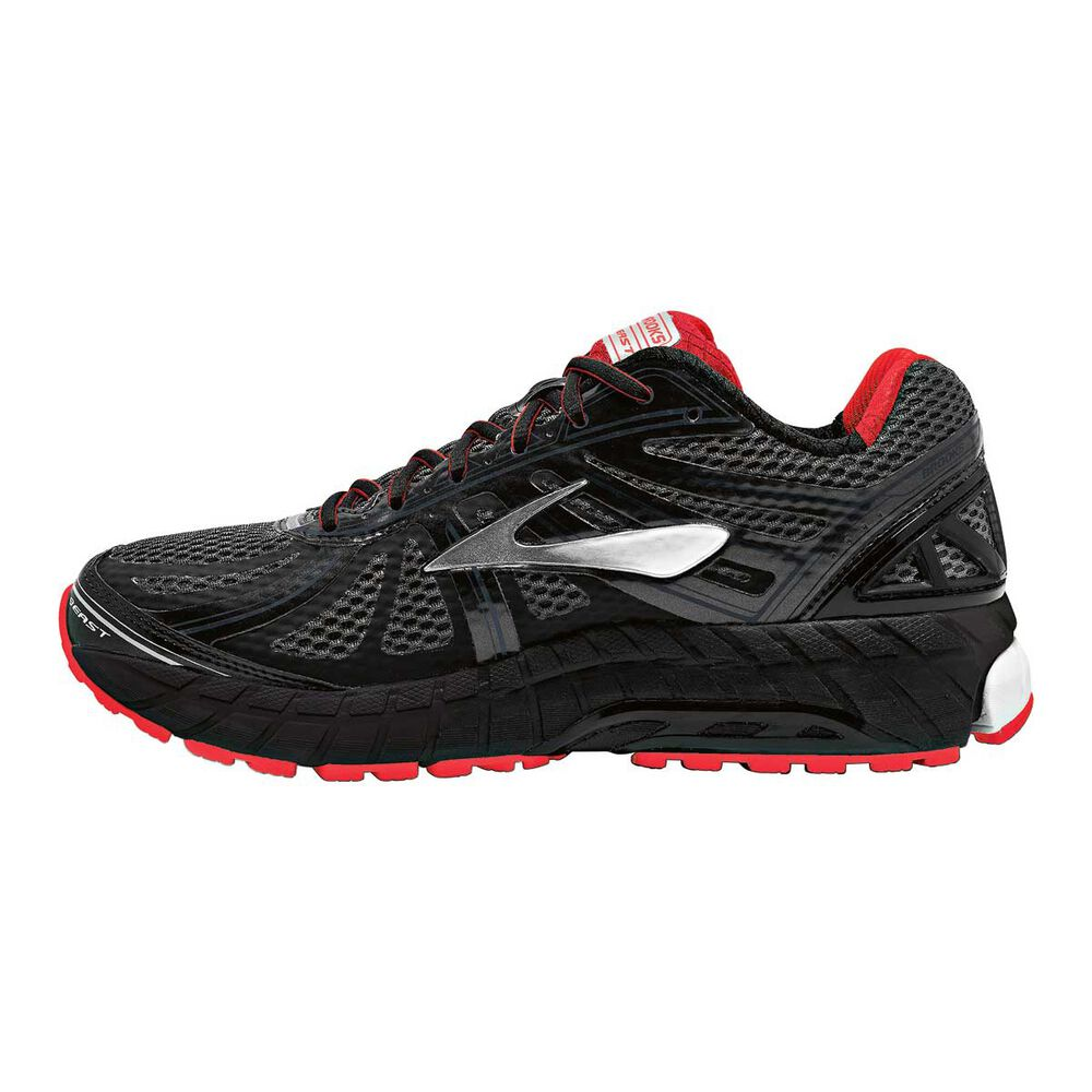 aa59438af0e Brooks Beast 16 2E Mens Running Shoes Black   Red US 9