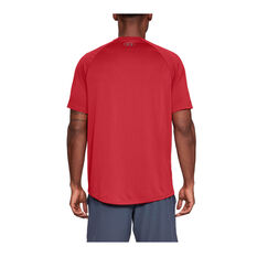 Under Armour Mens Tech Tee, Red, rebel_hi-res