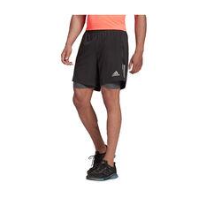 adidas Mens Own The Run 2-in-1 Shorts, Black, rebel_hi-res