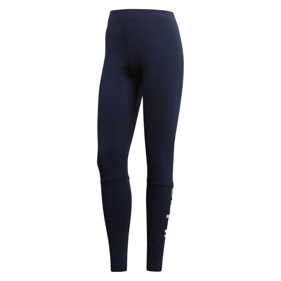 adidas Womens Essentials Linear Tights Navy XS, Navy, rebel_hi-res