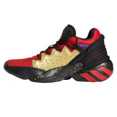 adidas D.O.N. Issue 2 Kids Basketball Shoes Black US 4, Black, rebel_hi-res