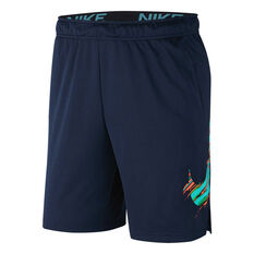 Nike Mens Dri-FIT Graphic Training Shorts Blue S, Blue, rebel_hi-res