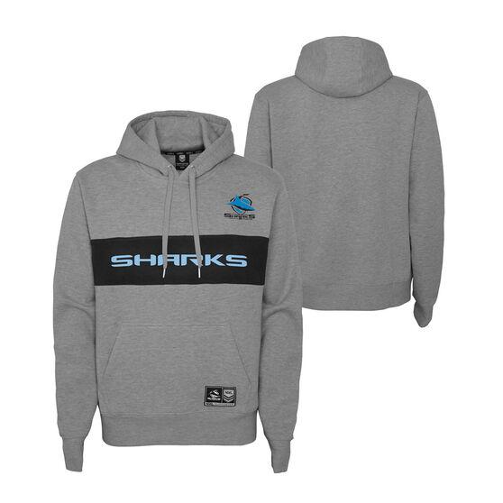 Cronulla-Sutherland Sharks 2021 Mens Hoodie, Grey, rebel_hi-res