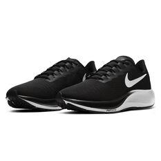 Nike Air Zoom Pegasus 37 4E Mens Running Shoes, Black / White, rebel_hi-res