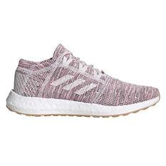 adidas Pureboost GO Womens Running Shoes Purple / White US 5, Purple / White, rebel_hi-res
