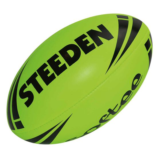 Steeden NRL Softee Rugby League Ball Green 11in, , rebel_hi-res