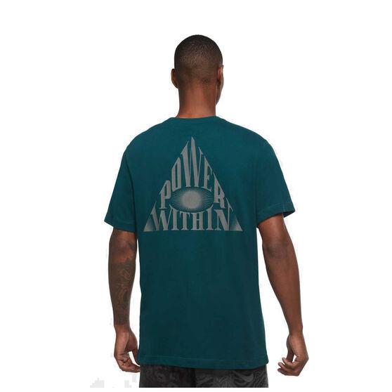 Nike Mens Dri-FIT Kyrie Logo Basketball Tee, Teal, rebel_hi-res