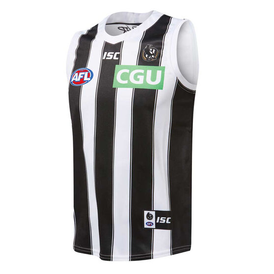 Collingwood Magpies 2019 Mens Away Guernsey Black / White XL, Black / White, rebel_hi-res