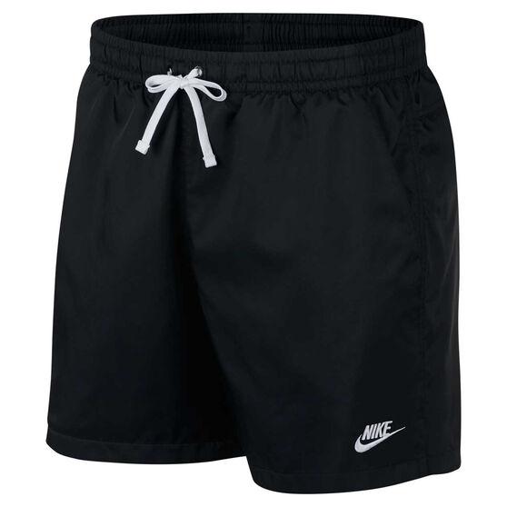 Nike Mens Sportswear Woven Flow Shorts, Black, rebel_hi-res