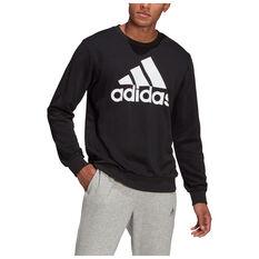 adidas Mens Volume Fleece Big Logo Sweatshirt Black XS, Black, rebel_hi-res