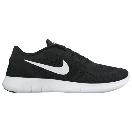 3e6c2555cc22 Nike Free Run Mens Running Shoes Black   White US 7