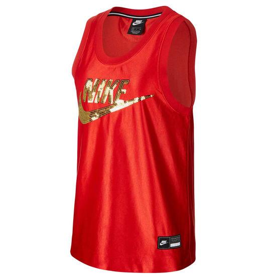 Nike Womens Sportswear Glam Dunk Tank, Red, rebel_hi-res