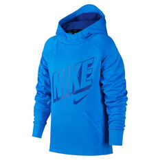Nike Boys Therma Graphic Hoodie Blue XS, Blue, rebel_hi-res