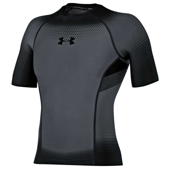 8f2bfa8e4 Under Armour Mens Charged Compression Short Sleeve Tee Grey S Adult, Grey,  rebel_hi-