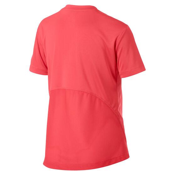 Nike Girls DriFIT Short Sleeve Grapic Tee, Red, rebel_hi-res