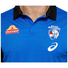Western Bulldogs 2021 Mens Media Polo, Blue, rebel_hi-res
