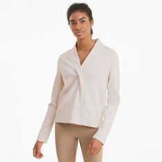 Puma Womens Exhale Knit Cover Up, White, rebel_hi-res