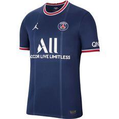 Paris Saint-Germain 2021/22 Mens Home Jersey Blue S, Blue, rebel_hi-res