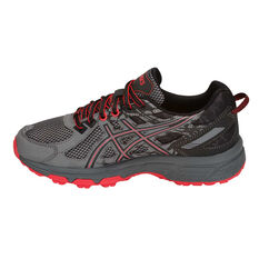 Asics Gel Venture 6 Kids Running Shoes Grey / Red US 4, Grey / Red, rebel_hi-res