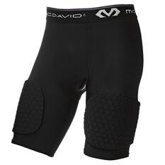 McDavid Hex 3 Pad Basketball Shorts Black S, Black, rebel_hi-res