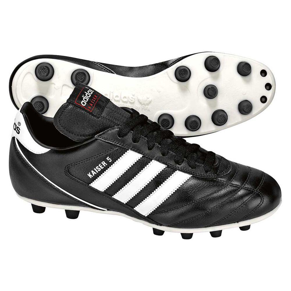 d8ba218da62 adidas Kaiser 5 Liga Mens FG Football Boots Black   White US 12 Adult