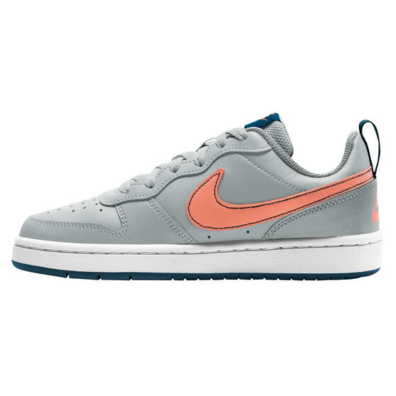 Nike Court Borough Low 2 Kids Casual Shoes, Blue/Coral, rebel_hi-res