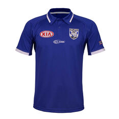 Canterbury-Bankstown Bulldogs 2019 Mens Media Polo, Blue, rebel_hi-res