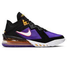 Nike LeBron 18 Low ACG Terra Basketball Shoes Black/White US 8, Black/White, rebel_hi-res