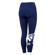 adidas Womens Believe This Disrupt Tights Navy XS, Navy, rebel_hi-res