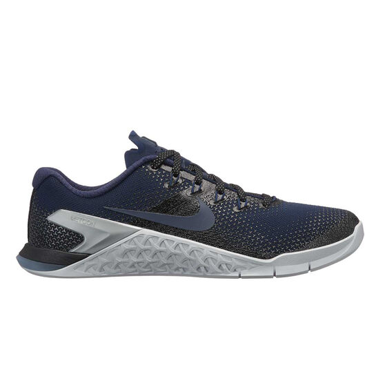 online store 6c352 82885 Nike Metcon 4 Metallic Womens Training Shoes, Navy   Black, rebel hi-res