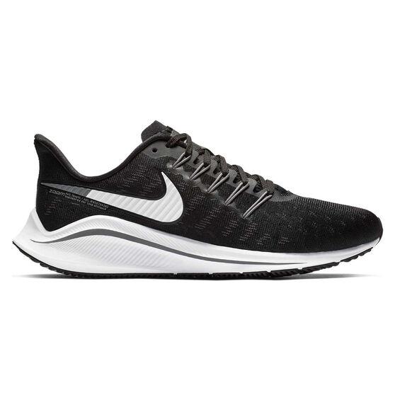 Nike Air Zoom Vomero 14 Womens Running Shoes, Black / White, rebel_hi-res