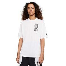 Jordan Dri-FIT Zion Mens Short-Sleeve Tee White S, White, rebel_hi-res