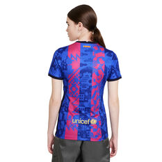 FC Barcelona 2021/22 Womens Replica 3rd Jersey Blue/Red XS, Blue/Red, rebel_hi-res