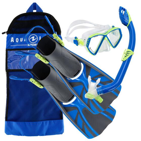 Aqua Lung Sport Junior Cub Snorkel Set, Blue, rebel_hi-res